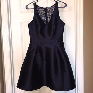 promgirl navy blue homecoming dress